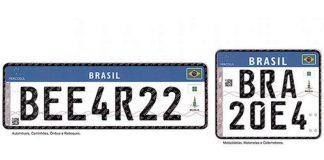 Placas do Mercosul tem obrigatoriedade adiada.