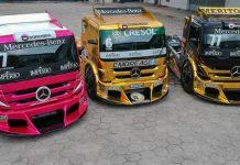 Novos caminhões da Equipe AM MotorSports. (Foto: Rodrigo Aguiar Ruiz)
