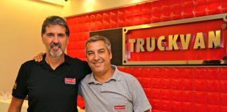 Flavio Santilli e Alcides Braga da Truckvan. (Foto: Divulgação)