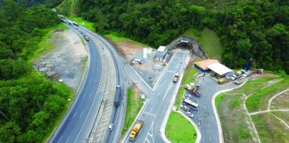 Imagens das obras na Serra do Cafezal. (Foto: Divulgação)